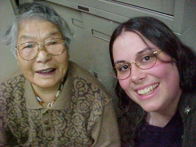 Great-grandma Oshino and me